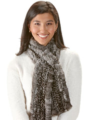 Dorothea Knitted Chinchilla Fur Scarf