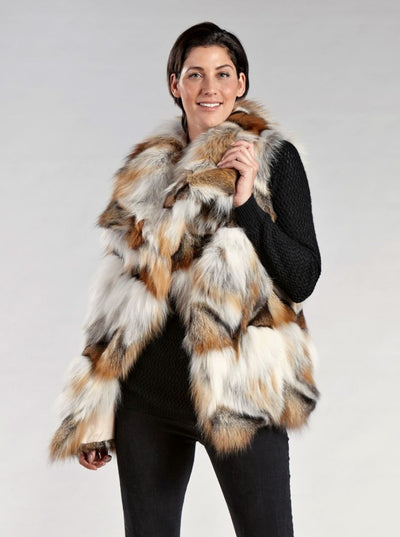 Anika Golden Island Fox Vest - The Fur Store