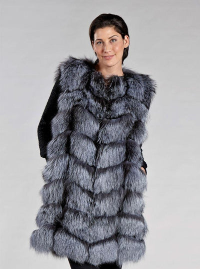 Margot Silver Fox Vest - The Fur Store