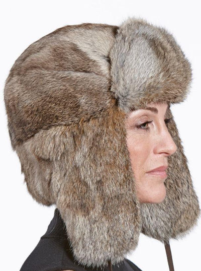 Jackson Women's Brown Rabbit Trapper Hat - The Fur Store