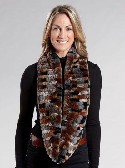 Karla Rex Rabbit Infinity Fur Scarf - The Fur Store