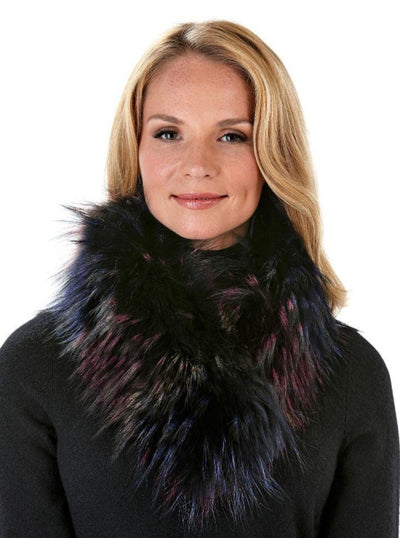 Ember Multi Color Raccoon Scarf - The Fur Store