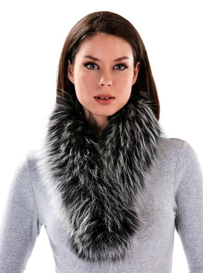 Ember Silver Tipped Raccoon Scarf - The Fur Store