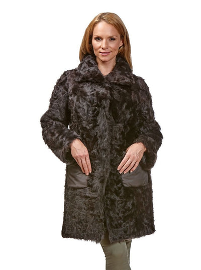 Kensi Brown Reversible Lamb Jacket - The Fur Store