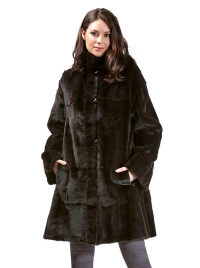 Bianca Brown Reversible Sheared Mink Jacket - The Fur Store