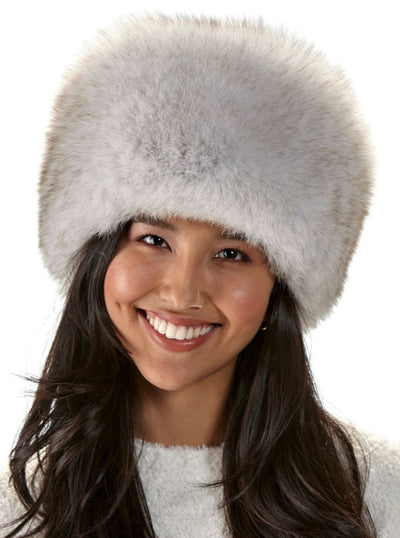 Veronica Women's Russian White Fox Hat - The Fur Store