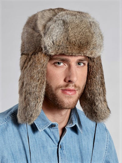 Jackson Men's Rabbit Trapper Hat - The Fur Store