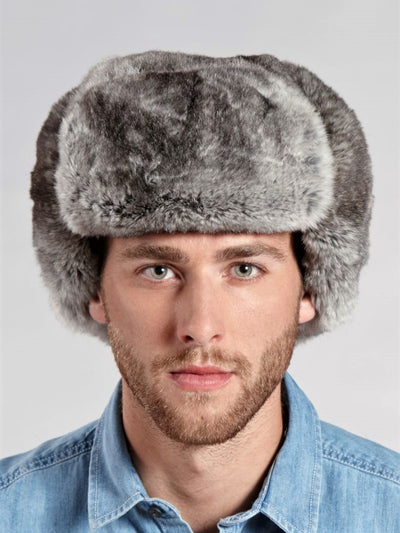 Men's Russian Ushanka Rex Rabbit Hat - The Fur Store