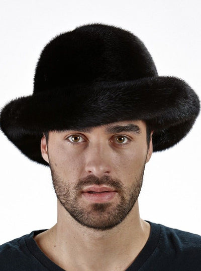 Bailey Men's Black Mink Brim Hat - The Fur Store