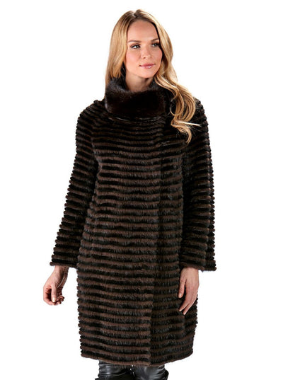 Elena Brown Mink Jacket - The Fur Store