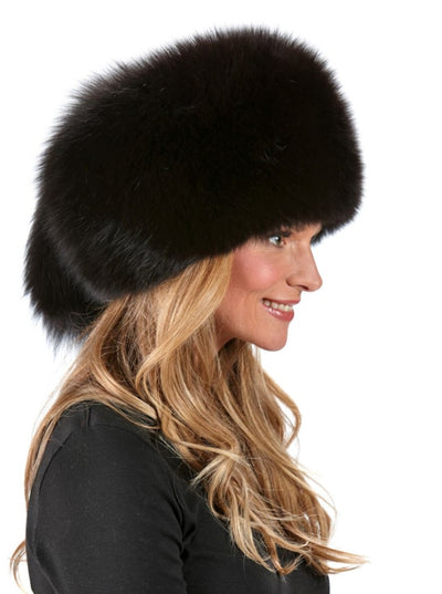 Veronica Women's Russian Brown Fox Hat - The Fur Store