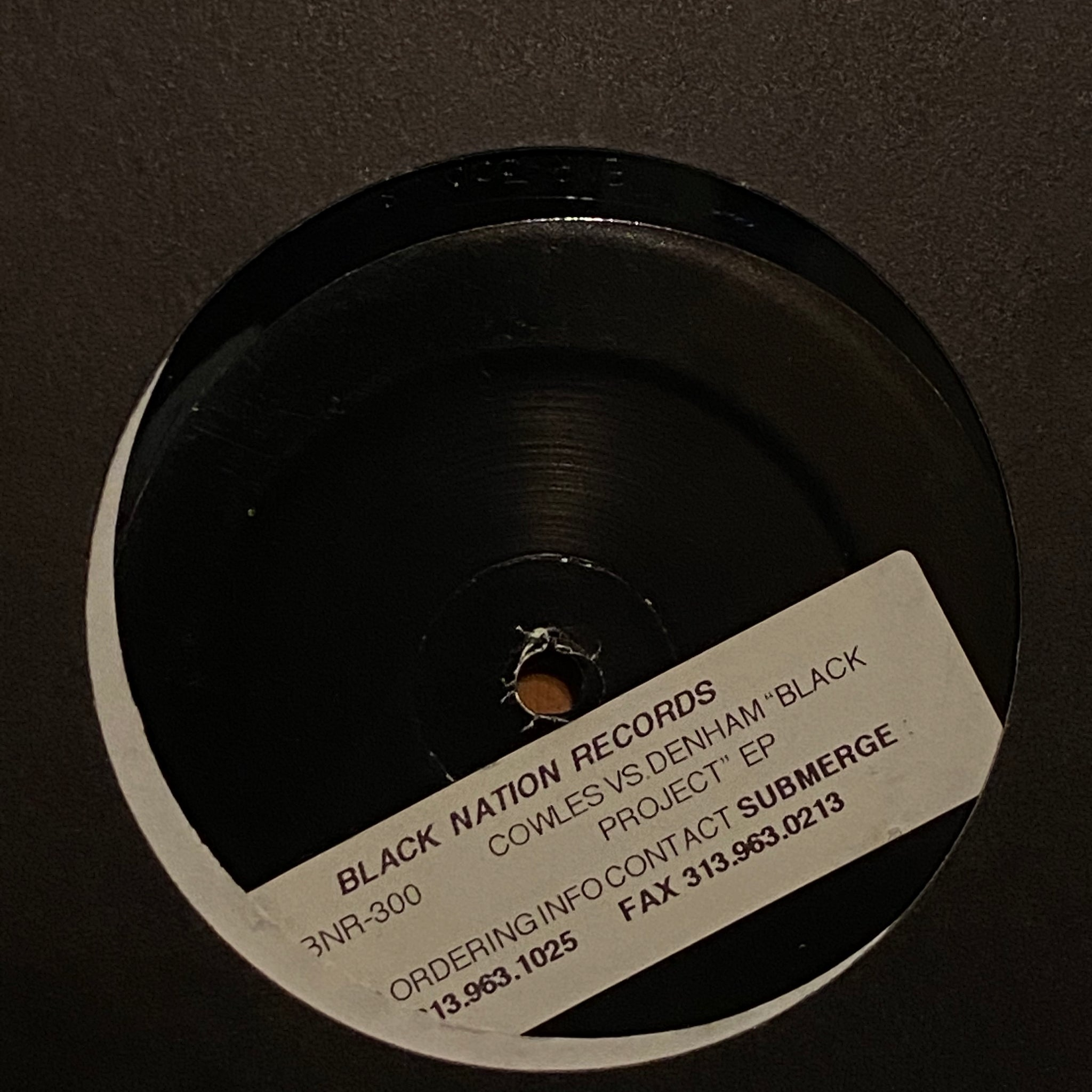 Cowles vs. Denham ‎– Black Project EP