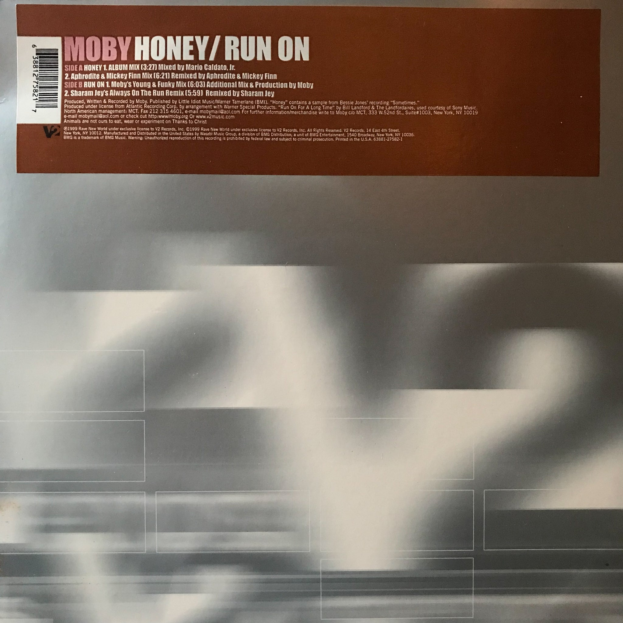 Moby ‎– Honey / Run On