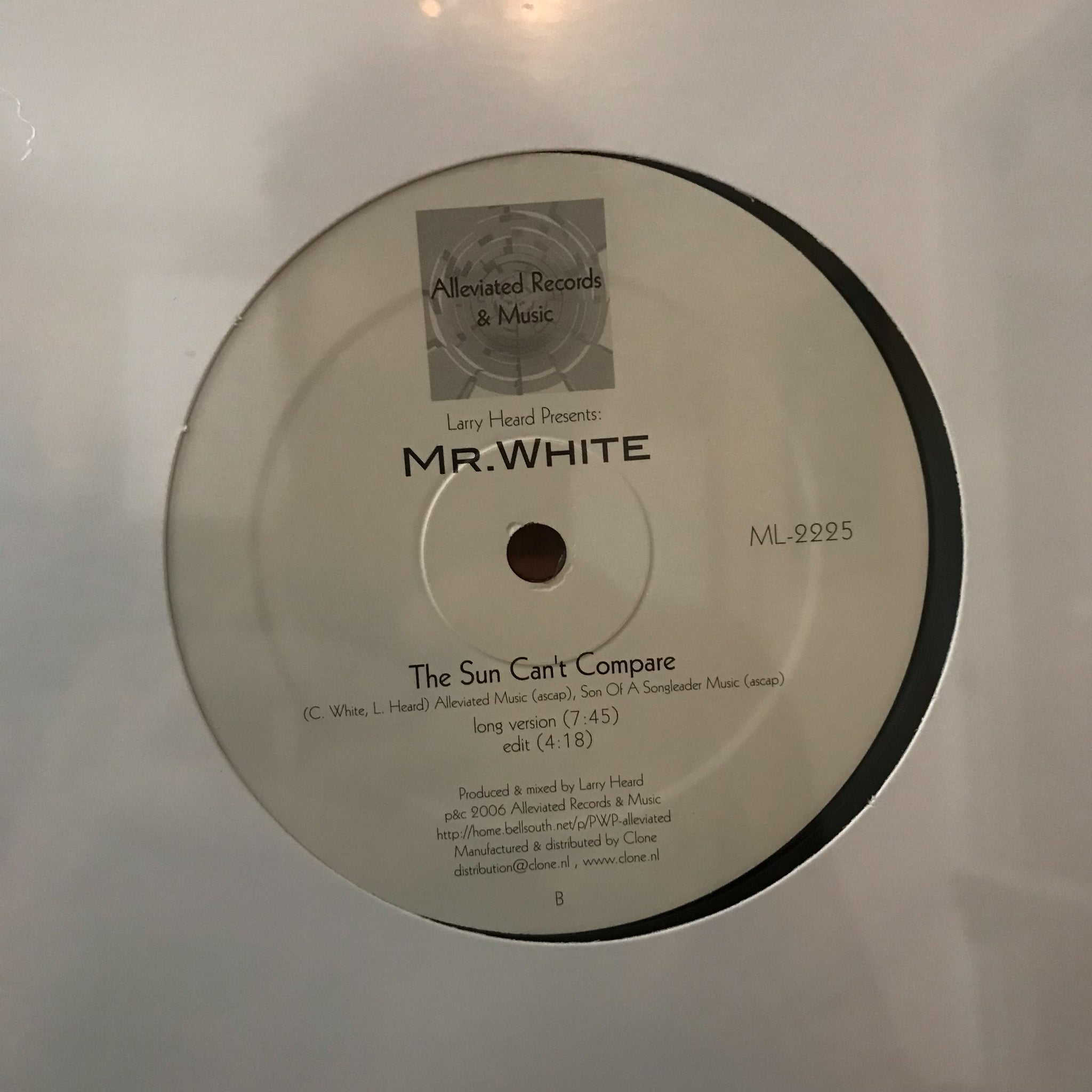 Larry Heard Presents: Mr. White ‎– You Rock Me / The Sun Can't Compare