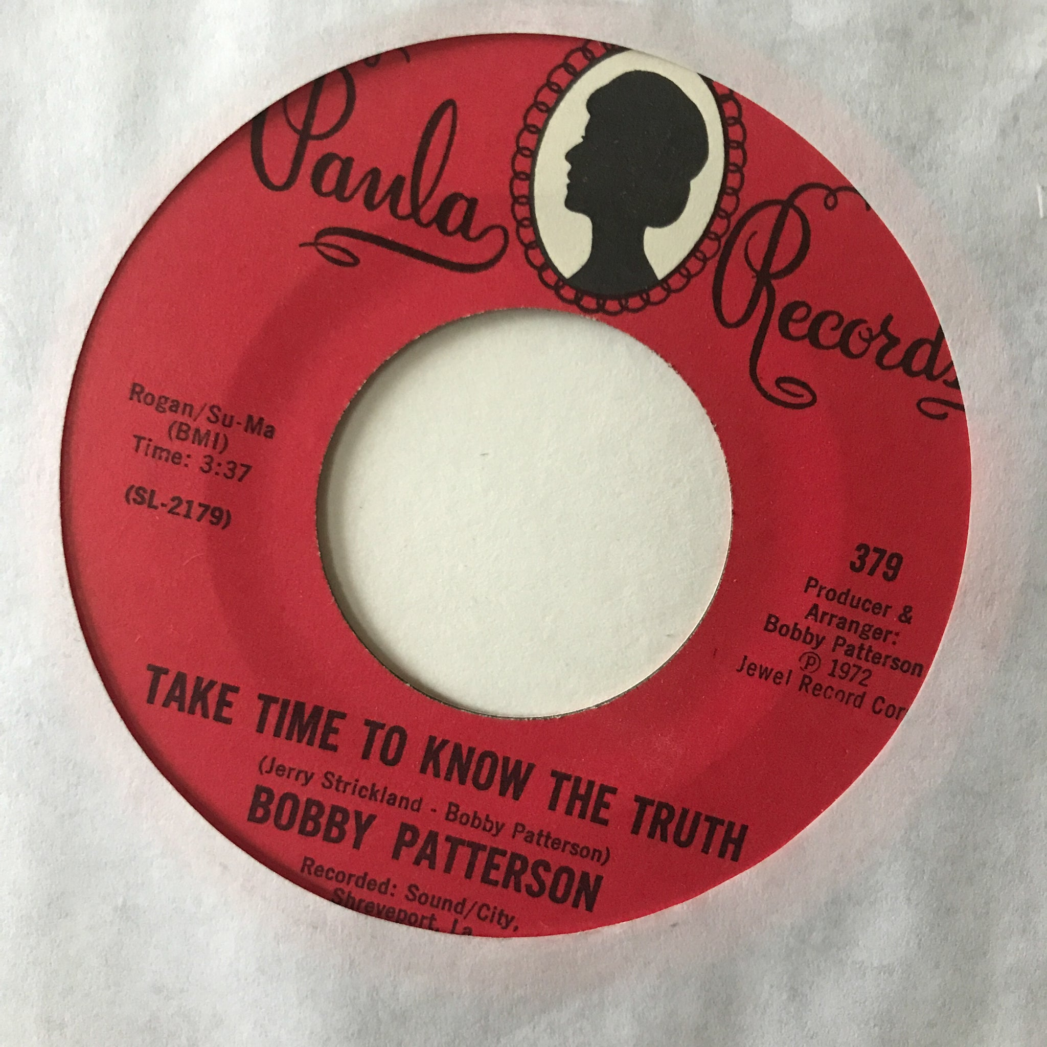 Bobby Patterson ‎– Take Time To Know The Truth / It Takes Two To Do Wrong