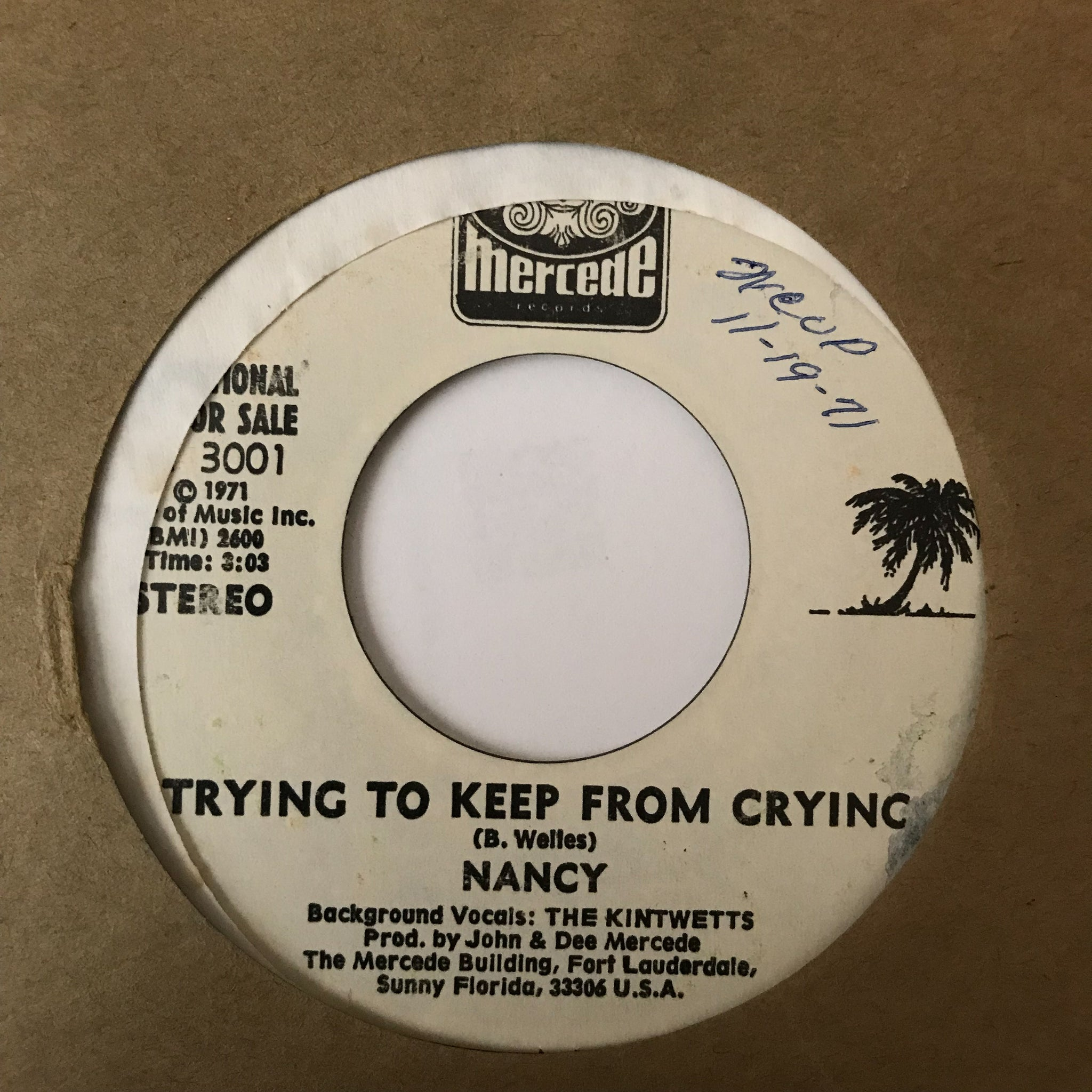 Nancy ‎– Trying To Keep From Crying