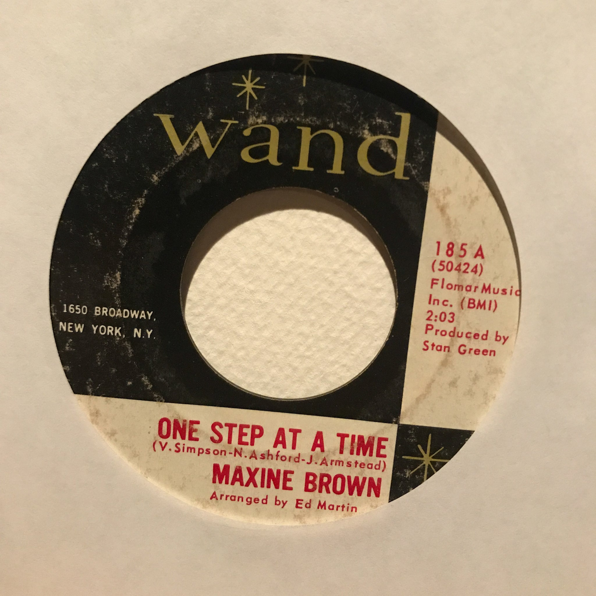 Maxine Brown ‎– One Step At A Time / Anything For A Laugh