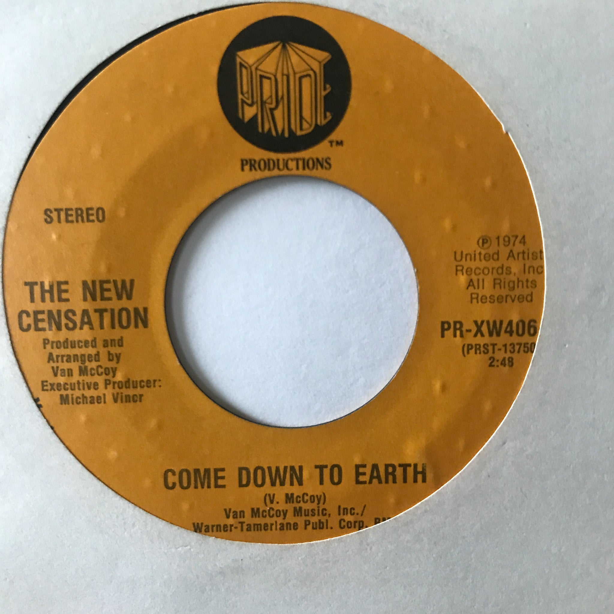 The New Censation ‎– Come Down To Earth / I've Got Nothin' But Time
