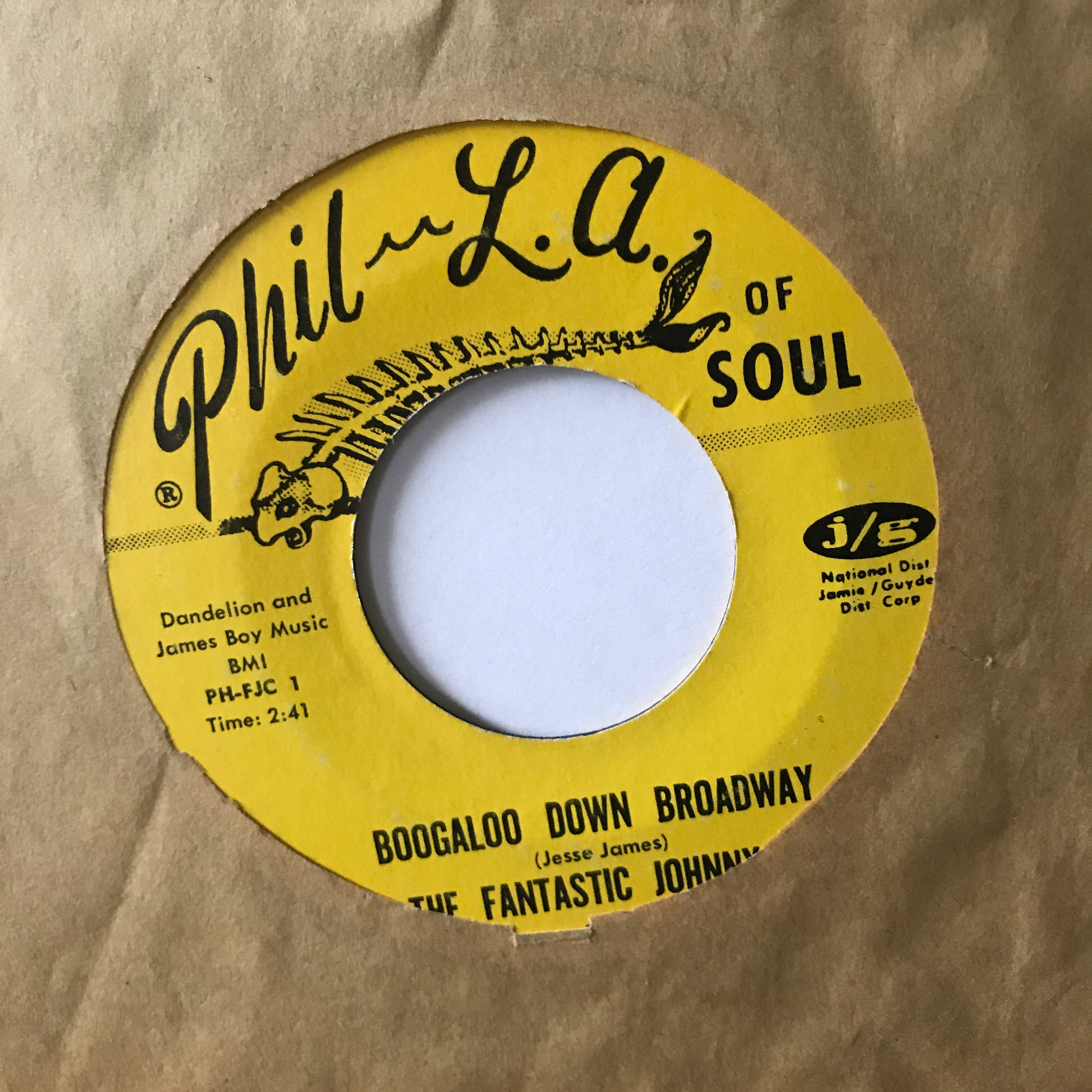 The Fantastic Johnny C ‎– Boogaloo Down Broadway / Look What Love Can Make You Do
