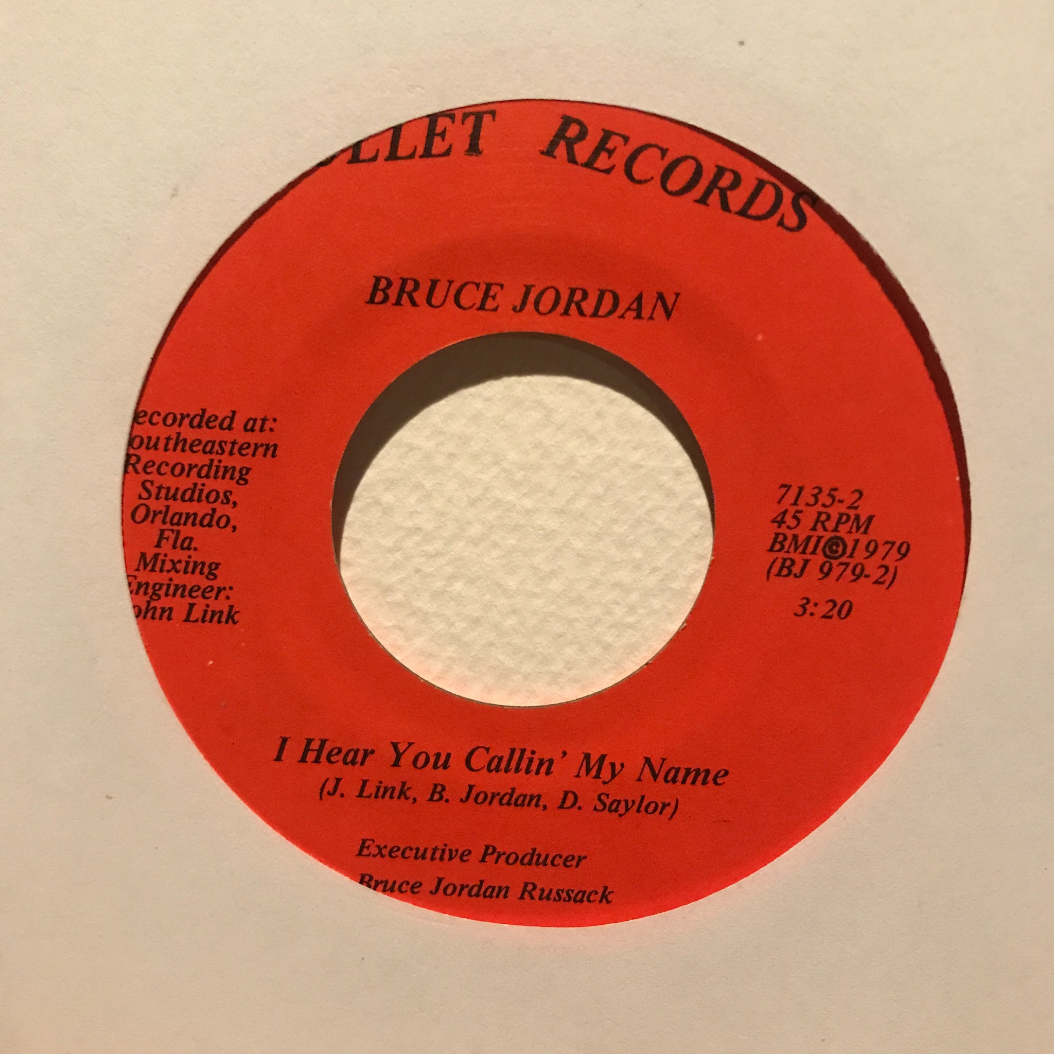 Bruce Jordan - I Hear You Callin' My Name / Liza's Song