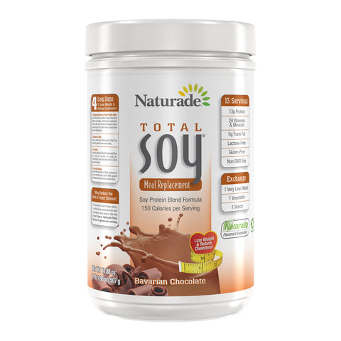 NATURADE - Total Soy All-Natural Original Powder, Bavarian Chocolate