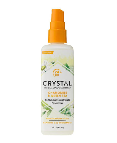 CRYSTAL - Mineral Deodorant Spray, Chamomile & Green Tea