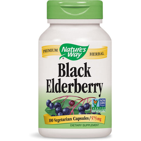 NATURES WAY - Black Elderberry 575 mg