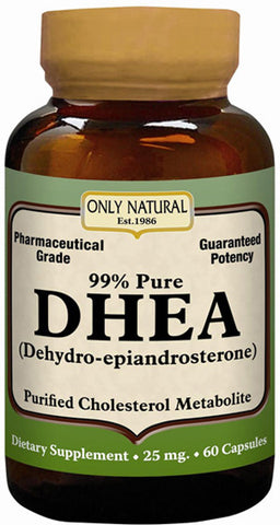Only Natural 99 Pure DHEA 25 mg