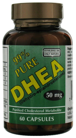 Only Natural 99 Pure DHEA 50 mg