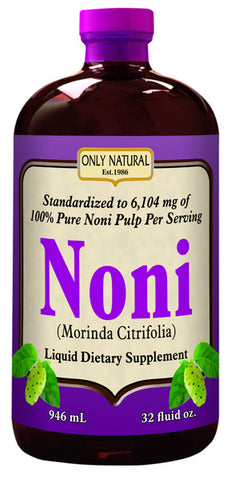 Only Natural Noni Liquid Standardized 100 Pure