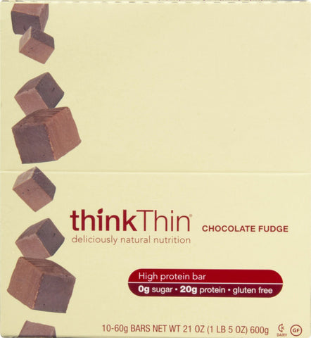 Think Products ThinkThin Protein Bars Chocolate Fudge