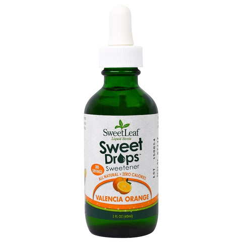 SWEET LEAF - Sweet Drops Liquid Stevia Flavor Valencia Orange