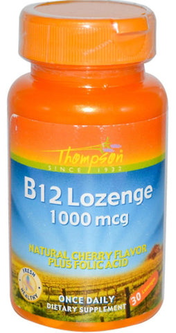 Thompson Nutritional B 12 Lozenge 1000 mcg with Folic Acid
