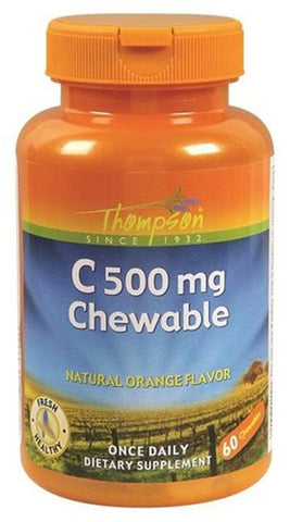 Thompson Nutritional Vitamin C 500 mg Chewable Orange