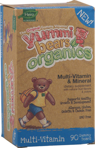 HERO NUTRITIONALS - Yummi Bears Organics Multi-Vitamin Mineral