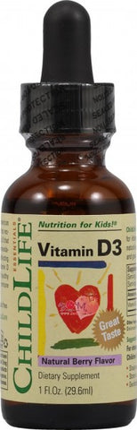 CHILD LIFE ESSENTIALS - Vitamin D3 Mixed Berry - 1 fl. oz. (29.6 ml)