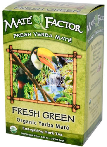 The Mate Factor Organic Fresh Green Yerba Mate Tea Bags