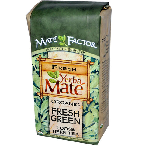 The Mate Factor Organic Fresh Green Yerba Mate Loose Tea