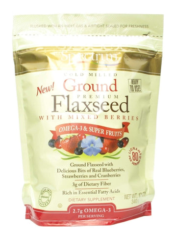 Spectrum Naturals Ground Flaxseed with Mixed Berries