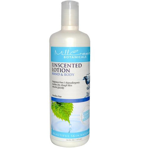 Mill Creek Unscented Hand Body Lotion