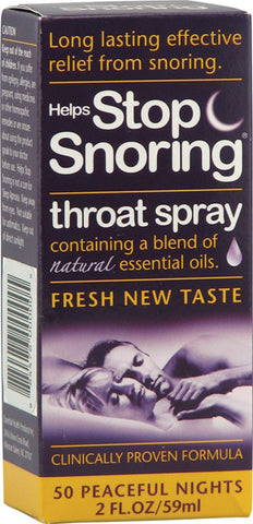Essential Health Helps Stop Snoring Throat Spray