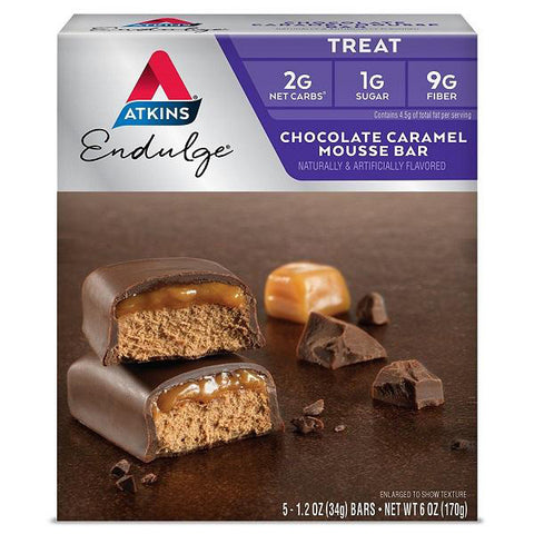 ATKINS - Endulge Chocolate Caramel Mousse Bars