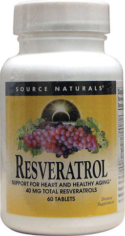 Source Naturals Resveratrol 40mg Classic Label