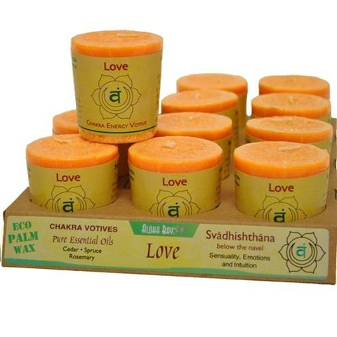 ALOHA BAY - Chakra Votive Candles Love