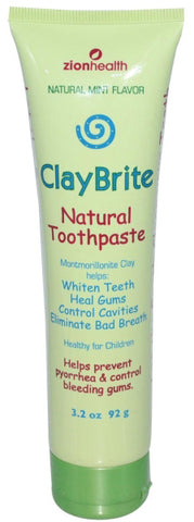 Zion Health ClayBrite Natural Toothpaste