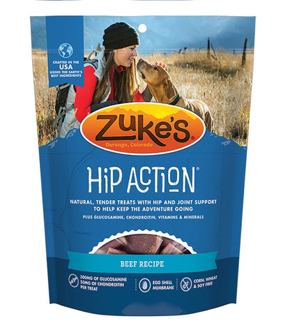 Zukes - Hip Action Dog Treats Beef Recipe