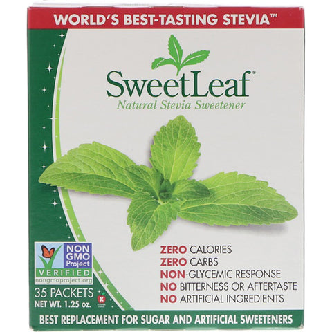 SWEET LEAF - Stevia Sweetener Packets