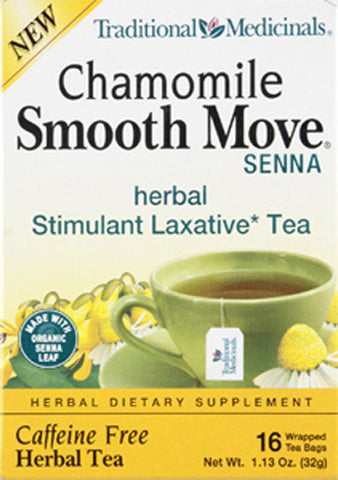 Traditional Medicinal Smooth Move Senna Chamomile Tea