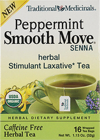 Traditional Medicinal Smooth Move Senna Peppermint Tea