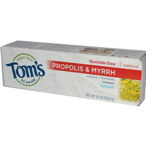 Toms Of Maine Antiplaque Toothpaste with Propolis & Myrrh Fennel